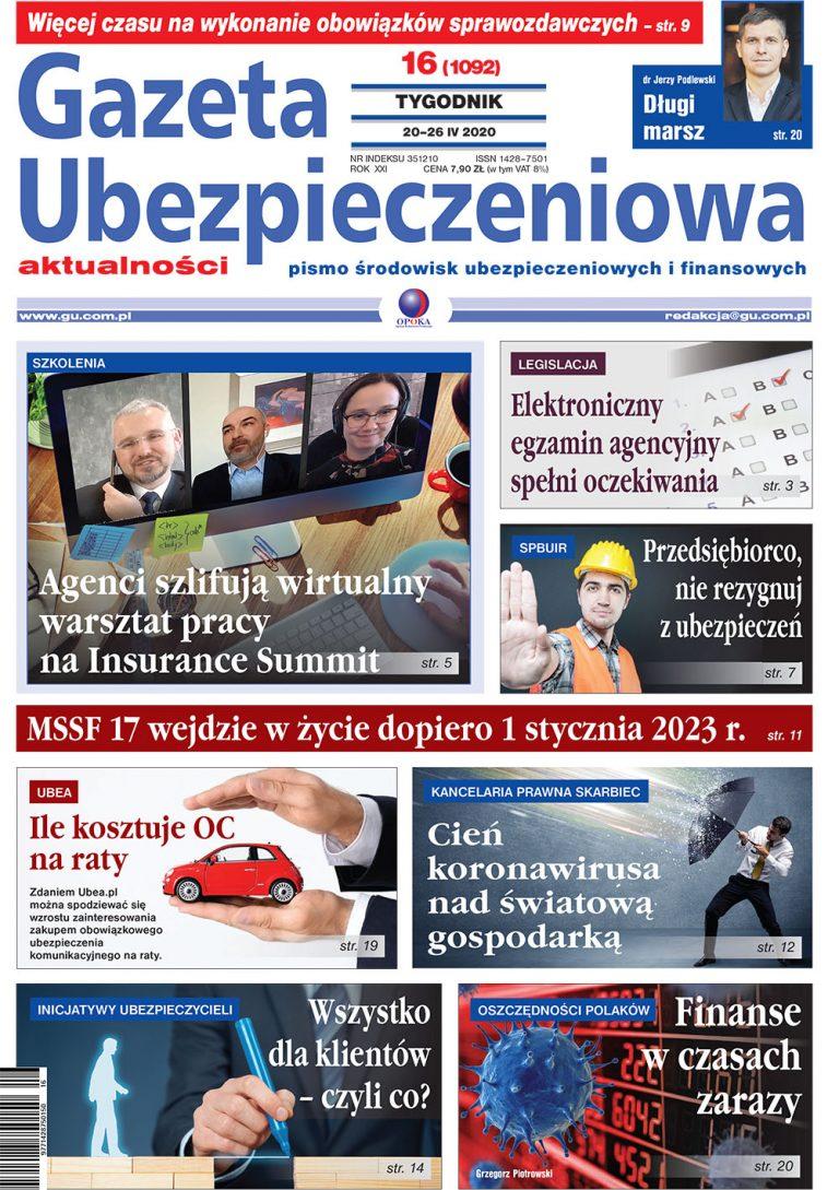 Gazeta Ubezpieczeniowa nr 16/2020